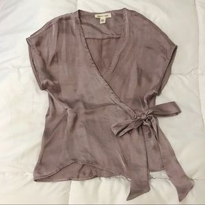 silence + noise Silky Wrap Top